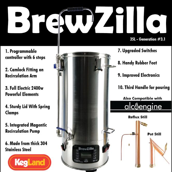 ROBOBREW(BREWZILLA) 35L - GEN.3.1 - HOME BREW ALL IN ONE