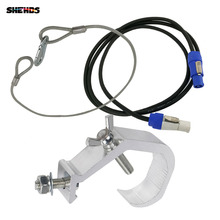 SHEHDS Hanging Stage Hook Truss Clamp Holder DJ Disco Safe Rope Steel Wire Led Par Light Hand in Hand Powercon Connector Plug