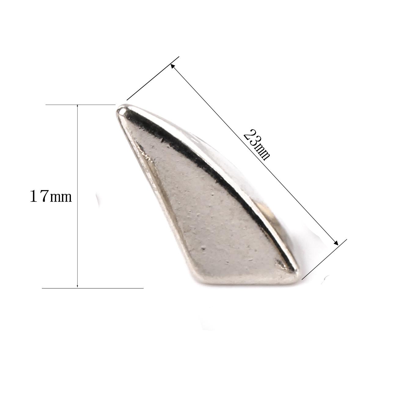 18mm27mm Black Rivet Stud Shiny Screwback Studs Metal Shark Fin Dragon Claw Spike Studs Punk Diy Claw Rivets Spikes Screw Back Rivets Spike