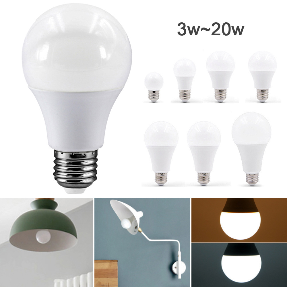 E27 Standard Base LED  Bulb Lamp Light 3W/6W/9W/12W/15W/18W/20W White/Warm White