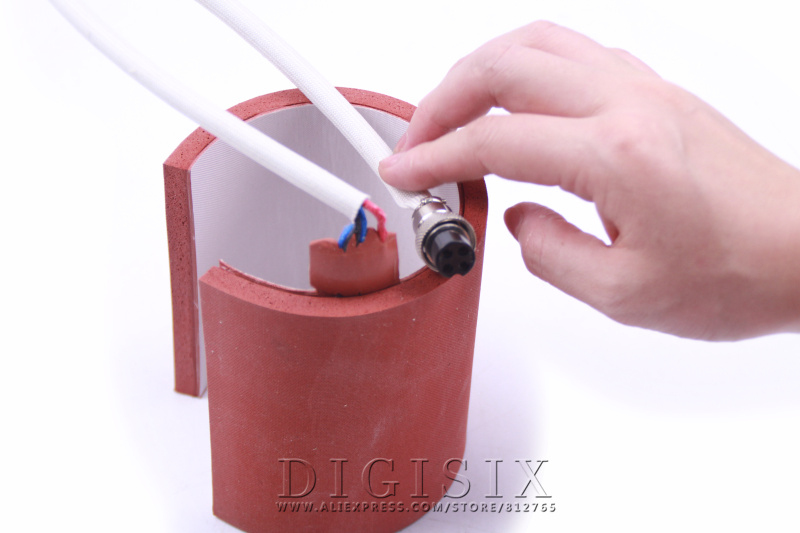 Freeshipping 7.5-9.5CM 11OZ Silicone Sublimation Mug Wrap Printing Part For Heat Press Machine 110V Or 220V