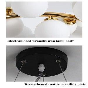 Image 5 - מודרני LED נברשות זכוכית השעיה lustres עבור סלון חדר אוכל חדר מטבח זהב/שחור תליון נברשות תאורה