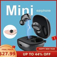 NILLKIN auriculares TWS inalámbricos con Bluetooth 5,0, auriculares IPX5 deportivos estéreo con estuche de carga para 5 horas de reproducción