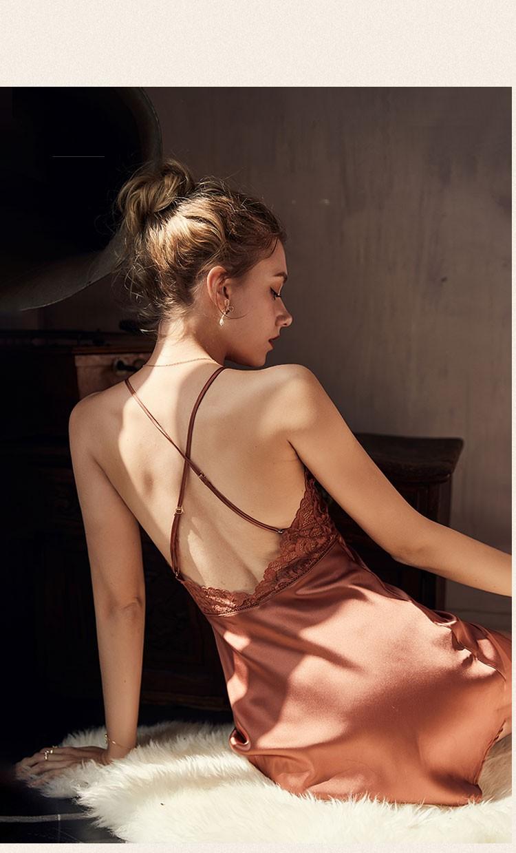 2PCS Robe Sets Night Dress Women Satin Sleepwear Sexy Lace Nightgown Kimono Bathrobe Gown - sleepwear