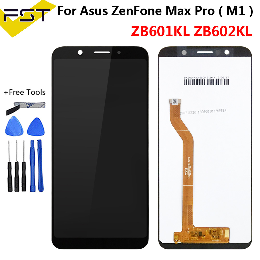 5.99''Black For Asus ZenFone Max Pro ( M1 ) ZB601KL ZB602KL LCD Display Panel Touch Screen Digitizer Assembly Spare Parts+Tools