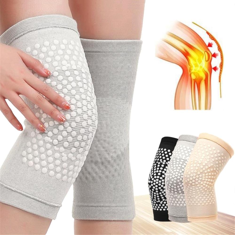 Genouillère de soutien auto chauffante, 2 pièces, pour l'arthrite, soulagement de la douleur articulaire, ceinture de récupération des blessures, masseur de genou, chauffe jambes  