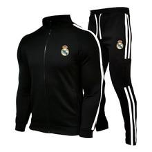 Homens adultos conjuntos de camisas de futebol pista e campo esportes terno kits de futebol masculino correndo jaquetas uniformes de treino de futebol terno