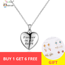 Strollgirl 100% 925 sterling silver forever in my heart pendant cremation casket necklace ladies commemorative jewelry hot