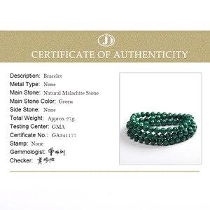 Image 5 - JD 6mm vert Malachite pierre Bracelets 54cm perles de prière islamique musulman Tasbih Allah Mohammed chapelet pour les femmes hommes