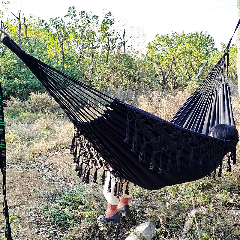 Leisure Bed Hammock Hanging-Bed Hunting Double-Sleeping-Canvas Outdoor Camping Hamac