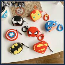 For Airpods Pro 3D Cute Marvel Case for Apple Airpods 3 Spider Man Wireless Earphone Accessories Cover Superman Batman Avenger(China)