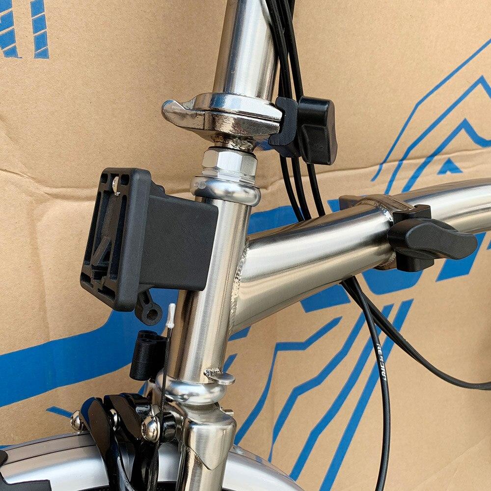 3SIXTY Chrome Steel Folding Bike 16″ 349 Larger Size Bicycle with Caliper Brake Mini Rear Rack Inner 3 5 Speed Foldable Bikes