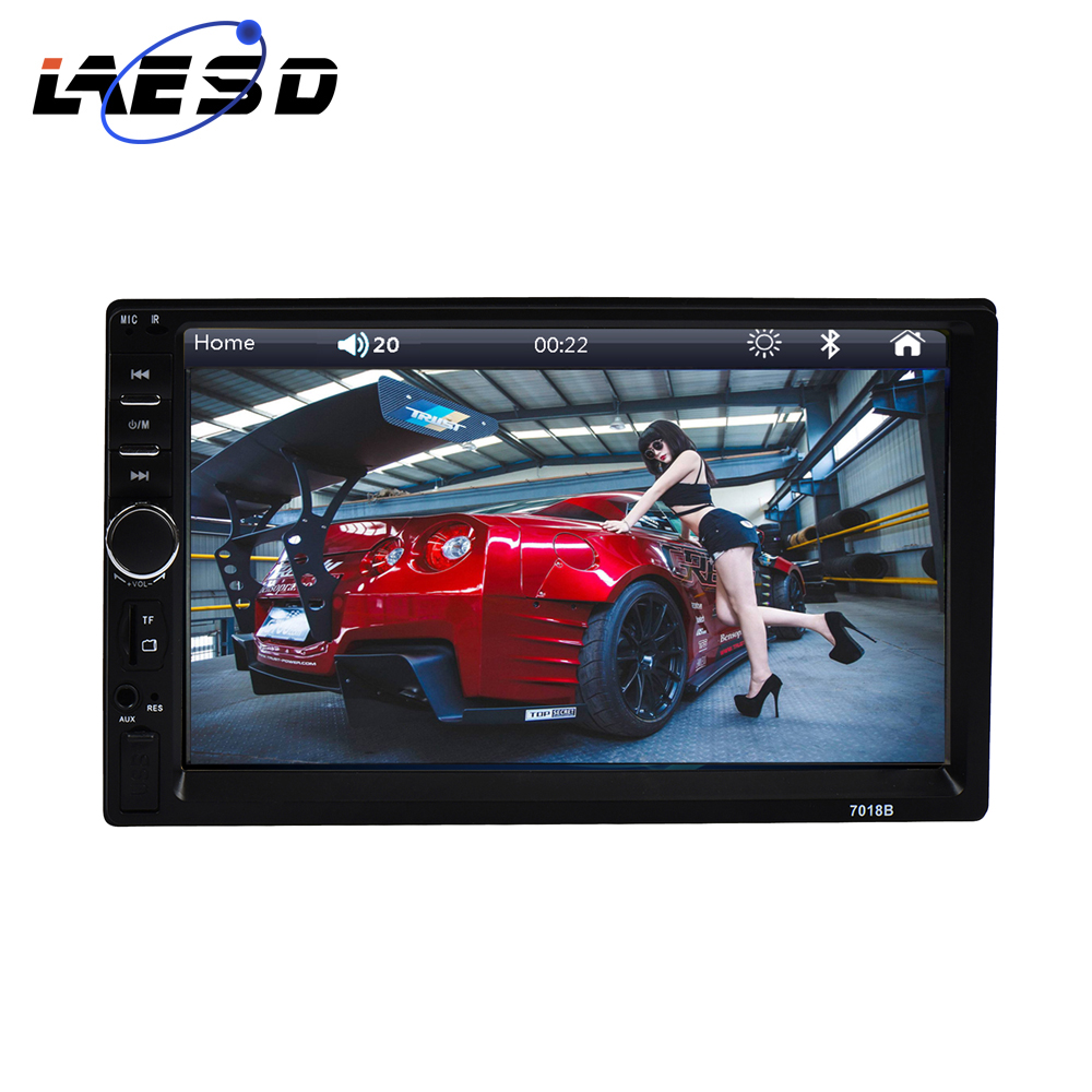 Mp5-Player Autoradio Audio Touch-Screen WINCE Rear-View Din 7018b BT FM 2 Doble USB 7''1080P title=