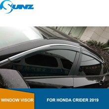 منحرف للنافذة الجانبية للدخان لسيارة Honda CRIDER 2019 غطاء حماية للشباك واقي للنافذة واقي من الشمس منحرف للمطر SUNZ
