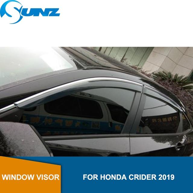 Smoke Side Window Deflector For Honda CRIDER 2019 Window Shield Cover Window Visor Vent Shade Sun Rain Deflector Guard SUNZ