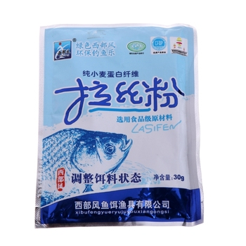 1 Bag Secret Protein Fiber Sticker Fishing Bait Additive Material Fish Carp 30g B36F image