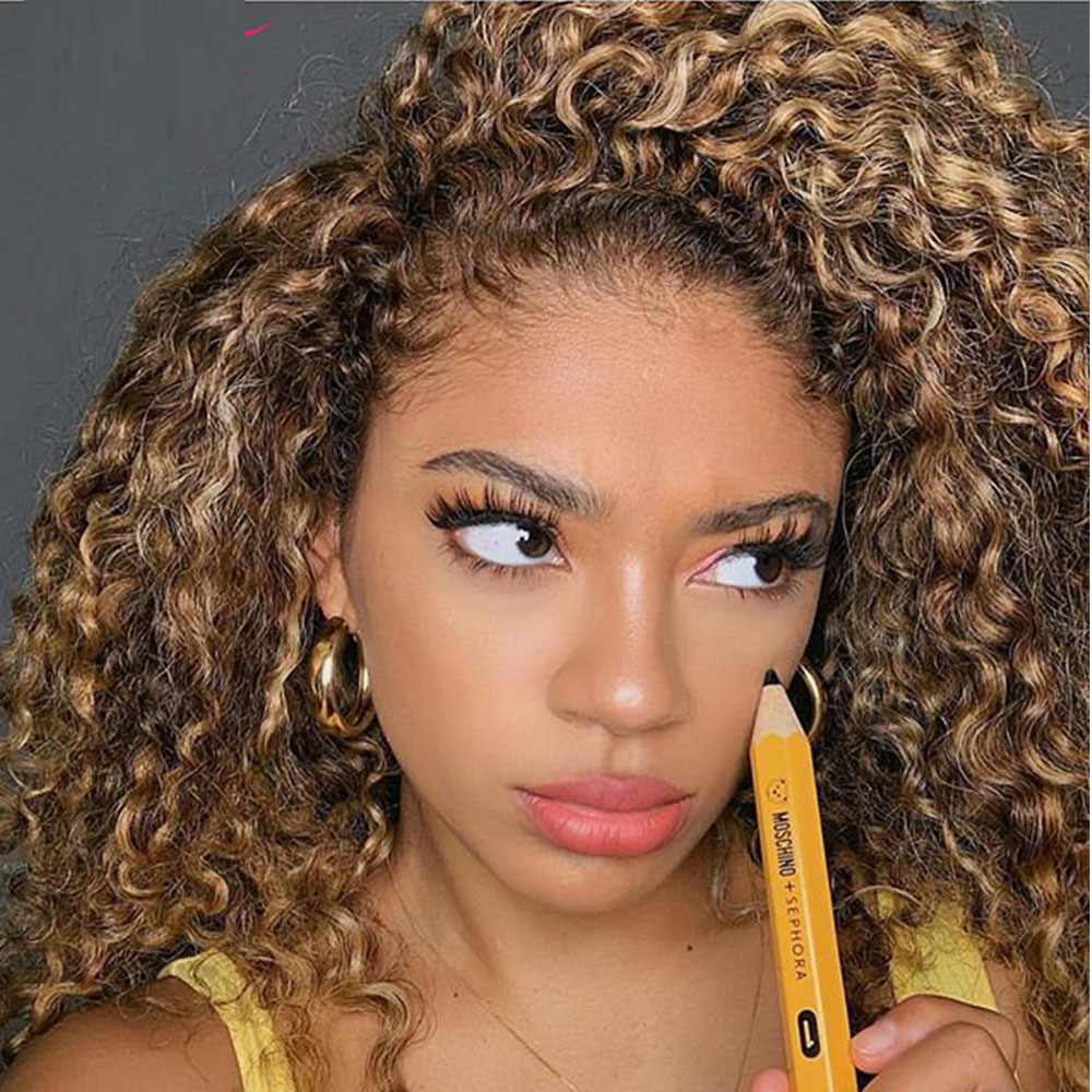1b/30 PrePlucked 13×4 Fake Scalp  Wig Deep Curly Wig Short Wet And Wavy Human Hair Wigs For Women Bob Wig With Baby Hair