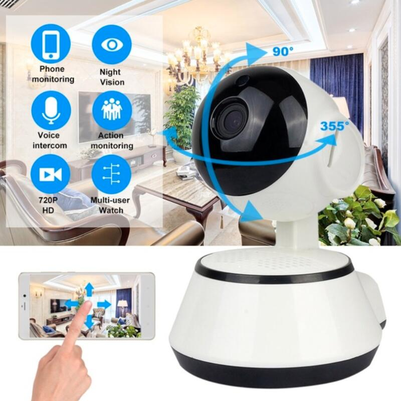 LESHP Baby Monitor Mini IP Camera 720P HD 3.6mm Wireless Smart WiFi Baby Camera Audio Record Surveillance Home Security Camera