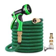 NEUE Garten Schlauch Erweiterbar 16-125ft Hochdruck Auto Waschen Kunststoff Rohr Magie Flexible Wasser Schlauch Mit Spritzpistole Für Bewässerung