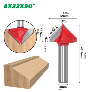 8mm 3D V Engraving Bit CNC Milling Cutter Router Bits For Wood Tungsten Woodworking 60/90/120/150 degree Milling Cutter gv 12 40 tungsten steel groove woodworking tool v shape woodworking router bit on mdf acrylic 3d cnc router engraving cutting