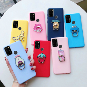 for huawei honor 9a 9s 9c phone stand holder soft back cover on huwei honor 9 a c s honor a9 c9 s9 honor9a honor9c honor9s case