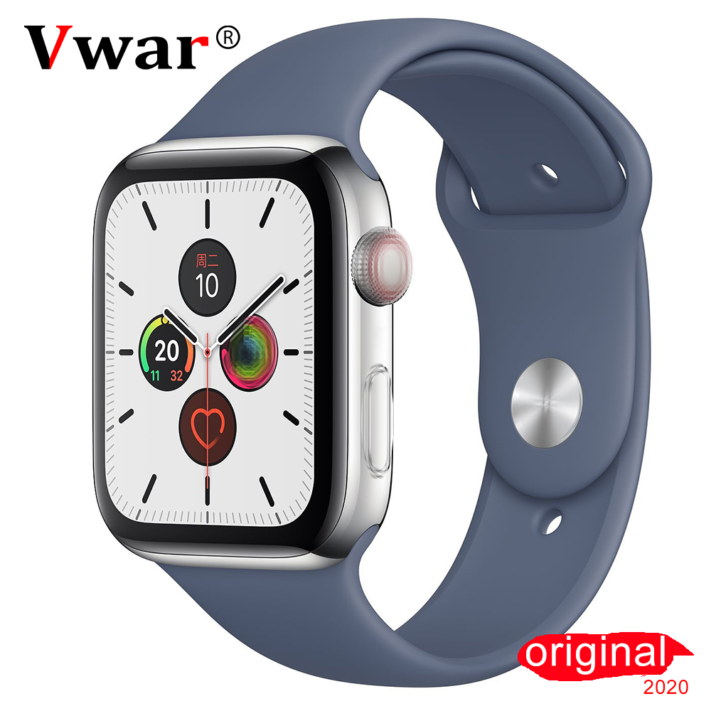 Vwar IWO 12 Pro Bluetooth Smart Watch For Apple IOS Android ECG PPG 40mm 44mm Wireless Charge 1:1 Series 5 Watch 5 IWO12 8 11 14