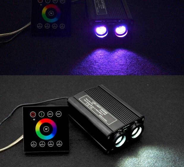 1X Hoge Helderheid RGBW LED 32W Glasvezel Dubbele Licht Motor Driver Met 2.4G Draadloze Touch Controller Gratis verzending - 5