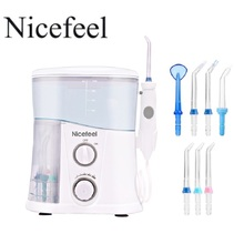 Nicefeel Oral Irrigator & Dental Water Flosser with 1000ml Water Tank + 7 Tips with Adjustable Pressure 1000ml water tank capacity 360 degree cleaning of oral cavity water flosser oral irrigator