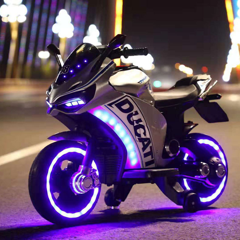 Children's Electric Motorcycle 3-7-10 Years Old Child Charging Toy Car Baby Can Sit Two-wheeled Motorcycle Ride On Toy Car