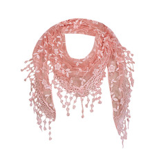 Crochet Shawl Scarf Veil Tassels Lace Floral Women Ladies Wraps New Knit Sheer Evening-Wrap