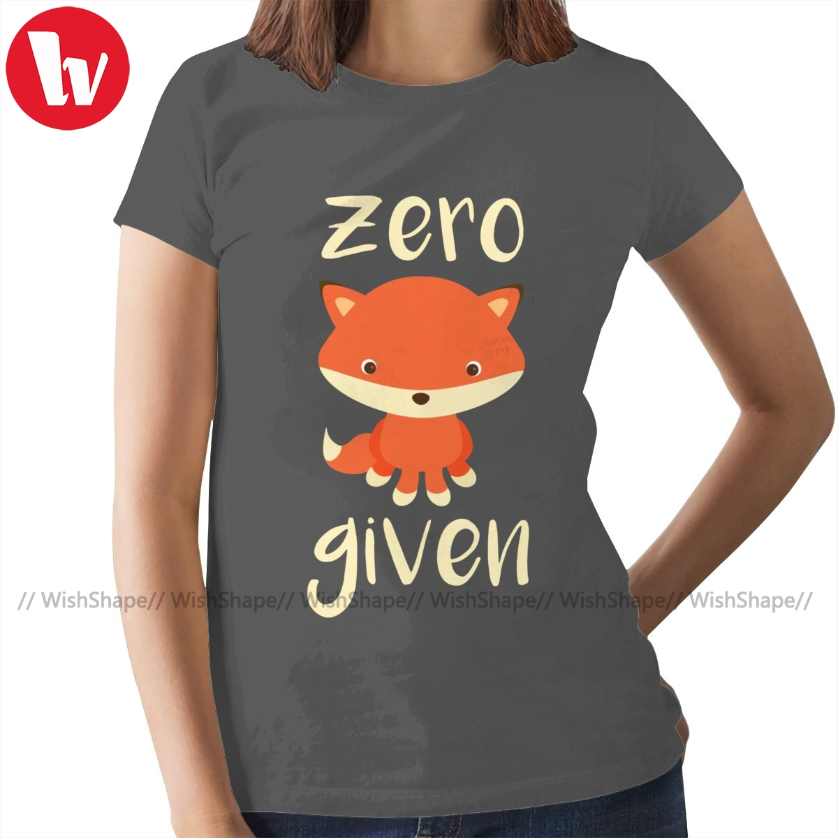 Geburtstag Fuchs T-Shirt Null Fuchs Gegeben-Dark Humor Design T Shirt Gedruckt Silber Frauen t-shirt Damen T-shirt