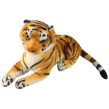 Cute Tiger Stuffed Animal Toys Cuddly Tiger Plush Toy Home Decoration for Kids Children (Yellow) larggest size 170cm simulation tiger yellow or white prone tiger plush toy surprised birthday gift w5490
