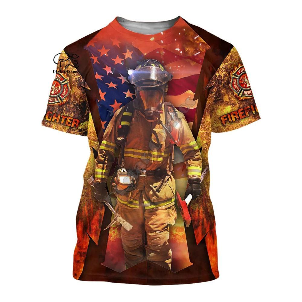 Купить ух девушка пожарный пожарных hero 3dprinted новейшая футболка