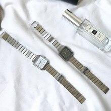 Simple Silver Women Watches Ulzzang Brand Exquisite Stainless Steel Ladies Wristwatches Fashion Minimalist Woman Quartz Clock