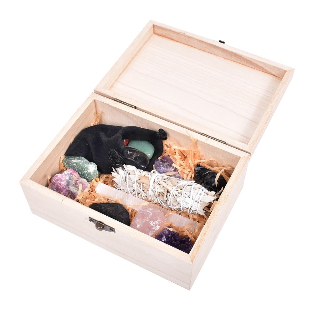 Wholesale Custom 7 Chakra Crystal Stones And Crystal Set Healing Kit