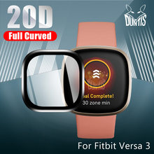 20D Curved Edge Protective film for Fitbit Versa 3 2 Sense soft screen protector Smart Watch accessories (Not Glass
