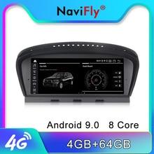 NaviFly 4 ГБ Android 9 ips экран Автомобильный мультимедийный плеер для BMW 5 серии E60 E61 E63 E64 E90 E91 CCC CIC система gps навигация