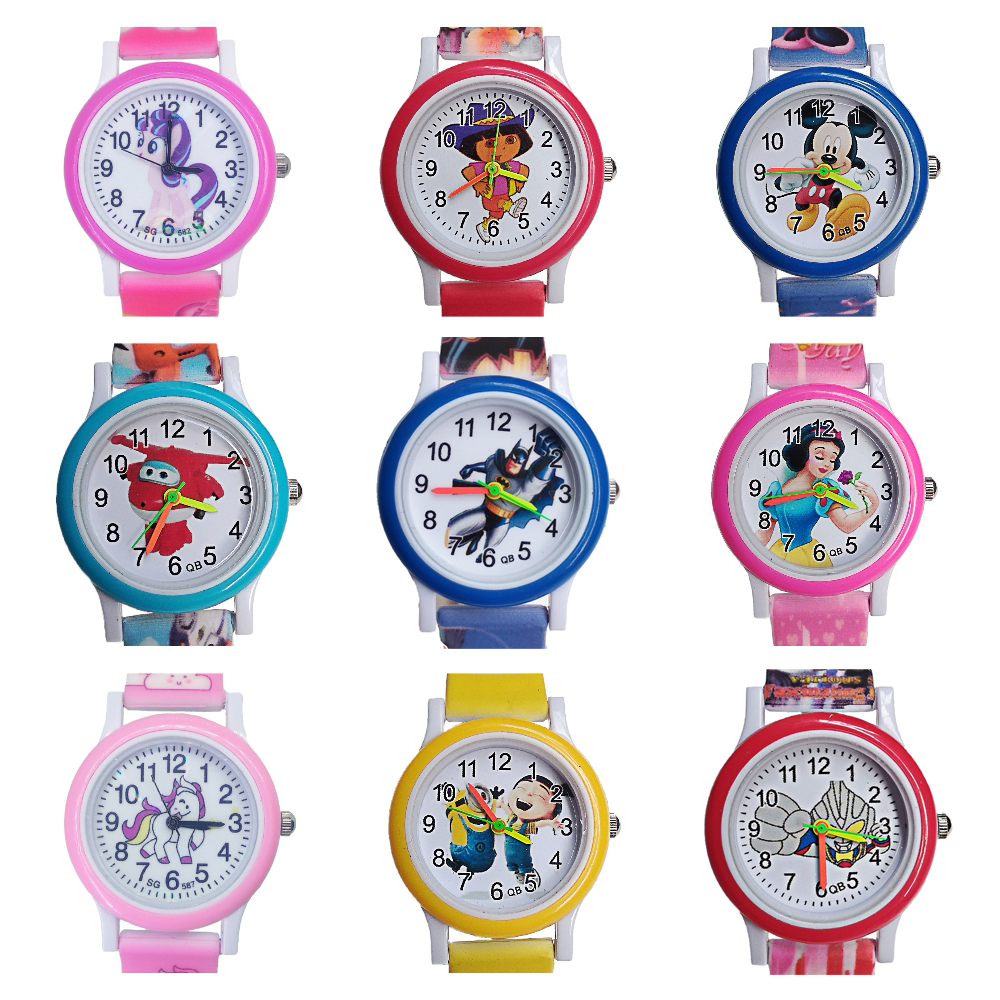 Top Brand Kids Watches Baby Watch Children 20 Style Anime Movie Team Luxury Quartz Child Watch Girls Boys Clock Christmas Gift