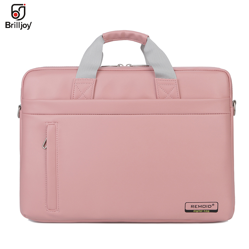 Woman Men Handbag PU Laptop Bag 14 15 Inch Notebook Business Travel Computer Briefcase Shoulder Sleeve Bag For Macbook 13 15 HP