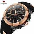 BELOHNUNG Sport Chronograph Uhr Männer Silikon Strap Militär Casual Wasserdicht Herren Quarz Uhren Top Marke Luxus Männlichen Uhr
