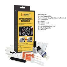 Hand-Tool-Set Alloy-Wheel-Repair-Kits Damages-Care-Repair Rim Silver Auto Adhesive Dent