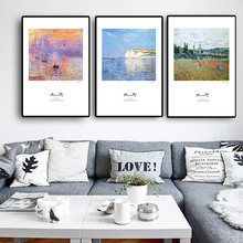 Monet Painting Canvas Home Cuadros Art Print On Poster Wall  Picture For Living Room Decoration