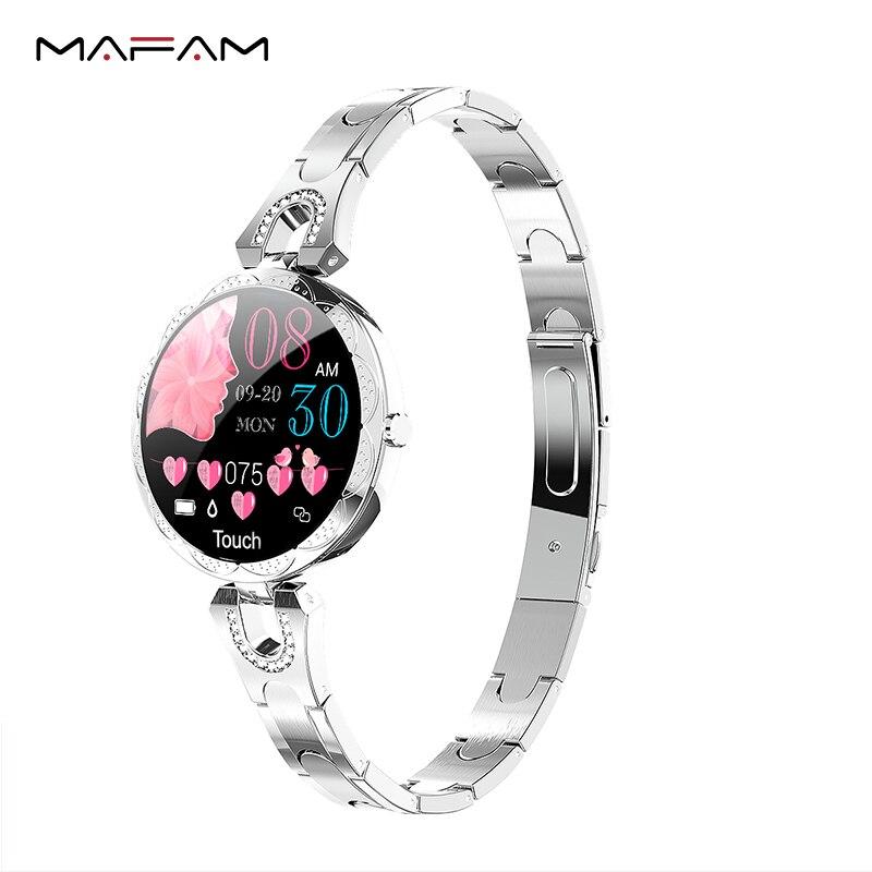 Mampa AK15 montre intelligente bracelet femmes pression artérielle étanche santé bracelet intelligent santé bracelet fitness tracker montre