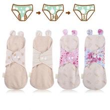 Panty-Liner Period-Pads Sanitary-Napkins Reusable Cloth Lady 100%Organic-Cotton 1pcs