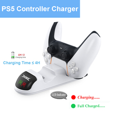 Charging-Dock-Station Charger Gamepad DOBE Joystick 2-Controllers For Ps5 LED Ce