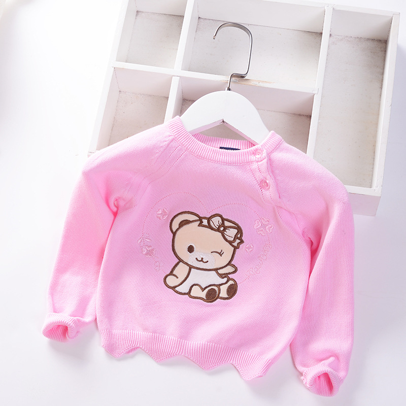 Girl'S Sweater 2019 Autumn And Winter New Style Baby Sweater Infants Baby Child Sweater Single Layer Children Shirt Fashion