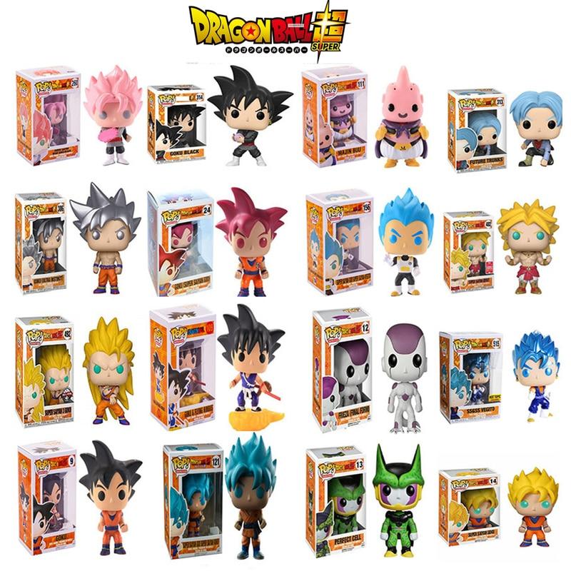 Funko POP Anime Dragon Ball Super Saiyan Goku Vegeta Vinyl Action Figure Collectible Model Children's Toys Holiday Gifts