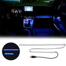 Para toyota rav4 2019 2020 rav 4 auto led controle central atmosfera de luz interior do carro modificado atmosfera lâmpada decorativa azul