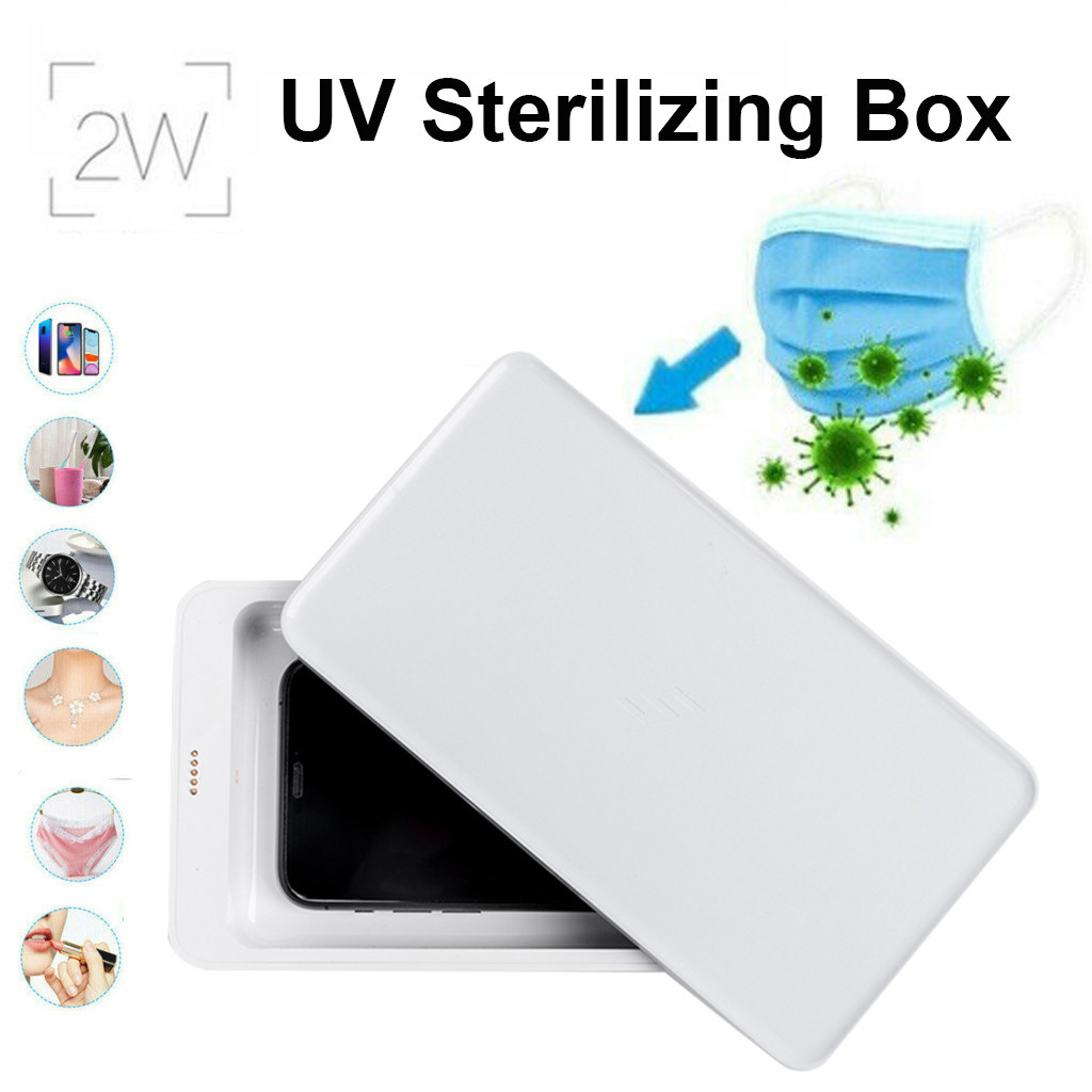 Baby Disinfecting Treasure 59s Disinfection Case UVC Sanitizing For Xiaomi 5 UV Sterilization Box Phone Wireless Charge
