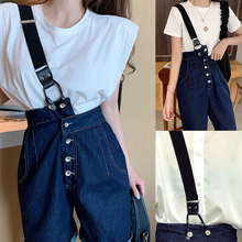 Trousers The-Straps Button-Style-And-A-Sling One-Shoulder Bib Adjustable Are Is